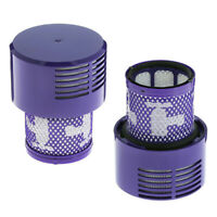 2pcs Reusable  Filter Cores For DYSON V10 SV12 Animal Vacuum Cleaner 969082-01