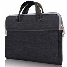 Black Denim Case Carrying Sleeve for iPad Pro 12.9 / Microsoft Surface Pro 4 3