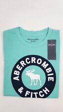 Abercrombie & Fitch Kids T-Shirt Shirt Oberteil NEU Grün Türkis Gr. 9/10 #1460