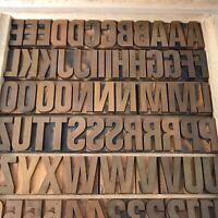36 mm - Holzlettern Holzbuchstaben Lettern Plakatschrift Letterpress Tiegel A-Z