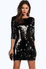 BOOHOO  size 10 BLACK BlackSequin Bodycon Dress New