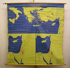 Murs carte mural biblique histoire vieux nouveau testament 167x176 ~ 1960