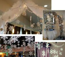9.8FT WHITE SNOWFLAKE STRING GARLAND CHRISTMAS HANG DECORATION FROZEN PARTY
