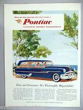 Pontiac Station Wagon PRINT AD - 1953