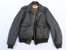 SCHOTT IS 674 MS made USA antique vintage brown leather flight jacket 42