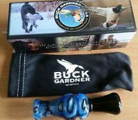 Duck Call Buck Gardner Full Acrylic Double Reed Duck Call Blue and Black Swirl