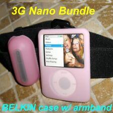 $25 BELKIN Silicone Case + Armband Bundle ~3rd Gen Apple IPOD Nano~Lite Pink~NEW