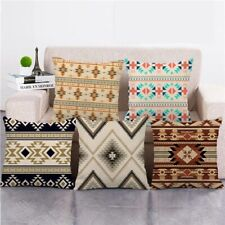 Boho Ethnic Aztec Square Decorative Throw Pillow Cover Sofa Couch Cushion Case