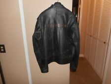 Vintage Men's Harley Davidson Black Leather Quilted Liner Jacket XL Rare & HTF