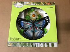 Rite Aid Home & Garden Butterfly Themed Bird Bath W/Ground Stake & Metal Chain