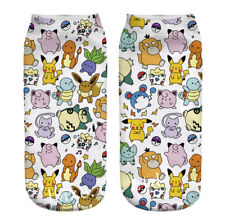 1Pair Pokemon Pocket Monsters Squirtle Socks Low Cut Crew Cotton Socks
