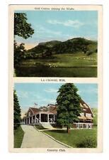 WI - LA CROSSE WISCONSIN Postcard COUNTRY CLUB & GOLF COURSE
