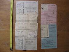 40's Anciennes Factures Quittances ELECTRICITE DE FRANCE Boissiere Paris