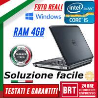 """PC NOTEBOOK PORTATILE DELL LATITUDE E6520 15.6"""" CPU i5 4GB RAM OTTIMO!+KEY WIN10"""