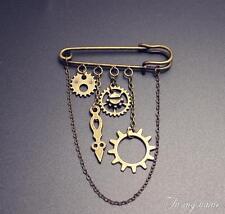 Punk Steampunk Lolita Gear Chain Brooch Accessories Prop