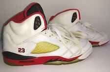 NIKE 2006 Air Jordan 5 Retro V High Top Sneakers Men's Boys Size 6.5Y Fire Red