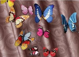 Mixed Size 12pcs Fashion PIN 3D Butterfly Home Decor Curtain Art Design Decal UK