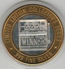 1996 Mystic Lake MN Slot Machine 777 WINNER .999 Fine Silver Strike Casino Token