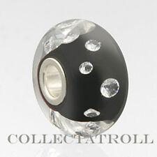 Authentic Trollbeads Universal Diamond Black Bead Trollbead UU81002