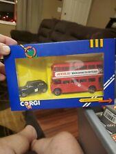 CORGI LONDON BUS AND TAXI SET DIE CAST MODEL 1365