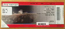 LADY GAGA 2010 The Monster Ball Tour FULL Concert TICKET OAKDALE Theatre Music