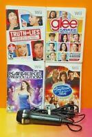 Nintendo Wii Wii U Game Lot Karaoke Revolution Glee, AMerican Idol, Truth or Lie