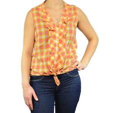 ZARA Women's Check Cotton Tops & Shirts