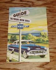 1953 Chevrolet Owners Operators Manual 53 Chevy