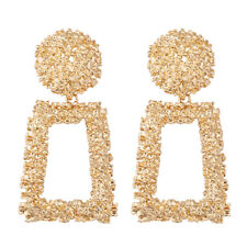 New Women Gold Silver Geometric Statement Drop Dangle Earrings Wedding Jewelry