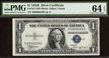 1935 B $1 SILVER CERTIFICATE ~ LOW SERIAL # D00000259D PMG 64 EPQ