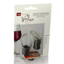 Vacu Vin el vino muestran servidor De Vino Cristal Negro Conjunto de 2