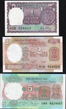INDE,INDIA,3 Billets période 1976-80 UNC,SPL / Lot 89