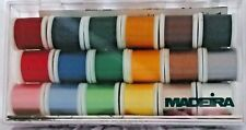 MADEIRA RAYON THREAD GIFT BOX , 18 Spools of Rayon Thread From Madeira NEW!
