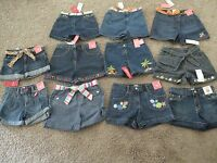 U PK GIRLS VINTAGE STYLES GYMBOREE DENIM JEANS SHORTS 5 6 7 8 9 10 or 12 NWT