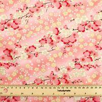 Gold Embossed Japanese Sakura Cotton Fabric Fat Quarter Quilting FQ #0113