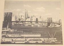 Brooklyn Bridge, New York City Skyline Nos Jumbo Photo Postcard Unused