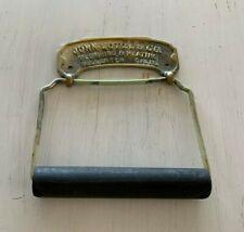 Antique Brass Toilet Paper Tissue Holder Roller Vtg John Lotze & Co. Old 76-20J
