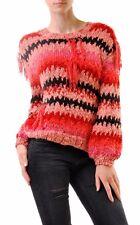 For Love & Lemons Women's Crosby Fringe Sweater Red RRP $252 BCF68