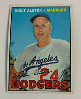 1967 Walter Walt Alston # 294 Los Angeles Dodgers Topps Baseball Card HOF