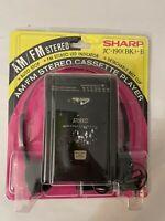 Vintage Sharp JC-190 Portable Stereo Cassette/ AM FM Radio Player