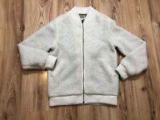Altamont Fleece Beige Polar Bomber Jacket Men's Size M Zip Up Fleece Bomber Jkt