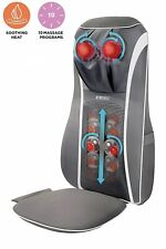 HoMedics SensaTouch Shiatsu 2-in-1 Neck + Back Massager w/ Soothing Heat - Grey