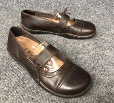 Birkenstock Footprints Womens Sz 38 N Brown Leather Mary Jane Shoes In EUC