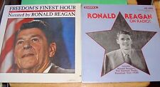 "2 RONALD REAGAN LP's sealed ""on RADIO"" ""Freedom's FINEST HOUR"" for both albums"