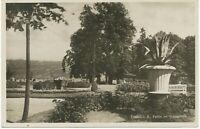 """D LINDAU, 1929, s/w RP AK """"Partie im Stadtgarten"""" K2 """"LINDAU / (Bodensee)"""""""