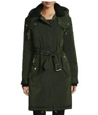 Burberry Hunnbridge Puffer Parka Coat Dark Cedar Green 4 US $1495