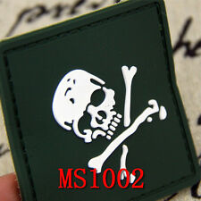 New Style Army Green Skull Fabric Applique Patch Sports Motorcycle Patches Stock