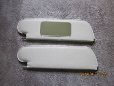 1971-72 Grand Prix single pin sun visors with vanity mirror white perforated