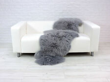 BEAUTIFUL REAL BRITISH SHEEPSKIN RUG DOUBLE GREY COLOUR  D-26