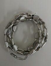 Fashion Jewelry Name Brand pale Silver tone stretch 5 strand bracelet New